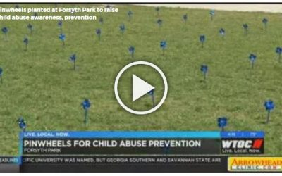 Pinwheels planted at Forsyth Park to raise child abuse awareness, prevention