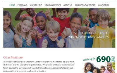 GREENBRIAR CHILDREN'S CENTER WELCOMES 2019 BY LAUNCHING NEW AND IMPROVED WEBSITE